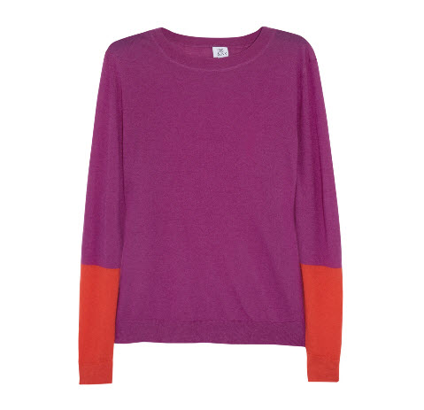 Iris & Ink Color-block Cashmere Sweater