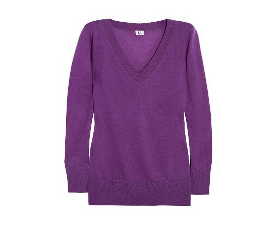 Iris & Ink Purple Cashmere sweater