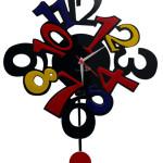 Colorful Pendulum Wall Clocks_1