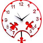Colorful Pendulum Wall Clocks_3