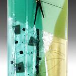 Glass Wall Clocks with Pendulum by Nina Cambron_2