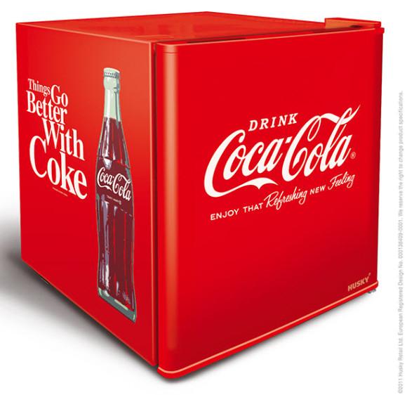 Husky Mini Countertop Fridge Coca Cola