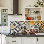 Bright Patchwork Tile Backsplash Designs for Kitchen from Purpura