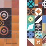 Bright Patchwork Tiles by Purpura
